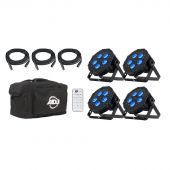 ADJ Mega Flat Hex Pak - 4-Pack RGBWA+UV Par Light