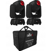 Chauvet Intimidator Spot 260 - Double Pack With Carry Case