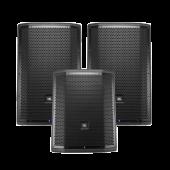 JBL PRX812W 2x Tops With 1x PRX815XLFW Sub Bundle