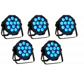 American DJ Mega Tri64 Profile - 5 Pack Tri-Colored Slim Par Lights